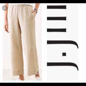 J Jill love Linen Cropped Pants Size Large